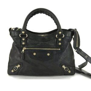 AUTH BALENCIAGA THE TOWN LEATHER 2WAY SHOULDER BAG